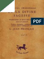 Em Swedenborg TRAITE DE LA DIVINE SAGESSE Hyde197 Louis Jean Français Volume 2sur2 1953