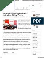 """13-07-14 Es tiempo de despertar y alcanzar el éxito afirma """"Maloro"""" Acosta"""