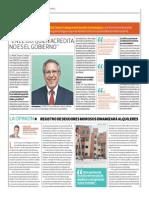 Registro de Deudores Morosos Dinamizará Alquileres_El Comercio 12-07-2014
