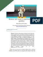 Roberto Arlt- Teatro y Experimentación Genérica