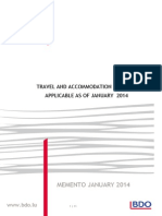Travel and Accomodation Expenses - 2014