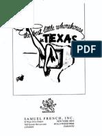 Best Little Whorehouse in Texas, The - Full Score