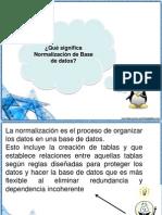 Normalizacion de Base de Datos