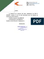 Autorizacion Para Tramites de Exportacion - Chile