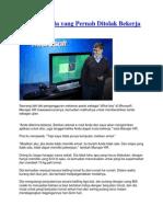 Kisah Pemuda Yang Pernah Ditolak Bekerja Di Microsoft