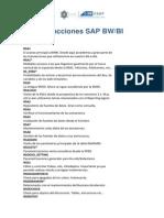 Transacciones SAP BI