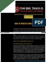 Processing Tobacco Etc
