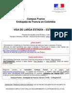 Requisitos Visa Larga Estadía Estudiante