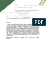 O Avanço Do Agronegócio Da Cana-De-Açúcar e a Fragmentação Do Trabalho e Da Luta Pela Terra No Nordeste Brasileiro