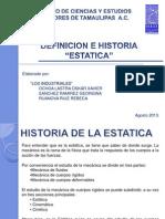 EQ.1 Historia y Definicion ESTATICA