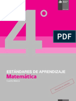 Estandares de Aprendizaje Matematica 4basico