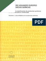 Inventario Aduanero Europeo de Sustancias Quimicas