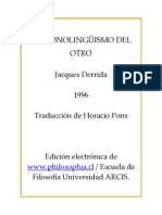 1996 - El Monolinguismo Del Otro[1]