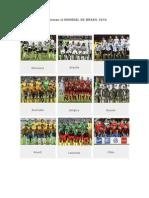 Equipos Que Conforman El MUNDIAL de BRASIL 2014