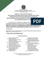 118 Edital Resultado Processo Seletivo EAD