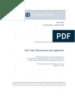 Fair Value Measurement and Application GASB 15082014