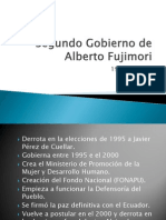 Segundo Gobierno de Alberto Fujimori