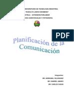 Planificacion de La Comunicacion
