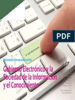 Gesic Gobierno Electronico y La Sociedad de La Informacion y El Conocimiento CIESI Folleto