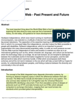 The World Wide Web Past Present and Future TimBL