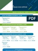 Calendario DCA - Junio y Julio