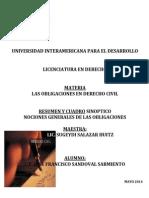 OD01_Resumen y Cuadro Nociones Generales de Las Obligaciones