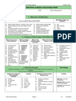 student behaviour analysis and prompt sheet