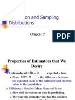 Estimation and Sampling Distributions