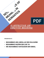 Affective or Emotive Meaning