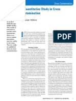 A Quantitative Study in Cross Contamination