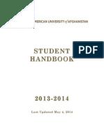 AUAF Student Handbook 2013 2014 Last Edited May 4 2014