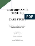 Performance Testing - Case Study