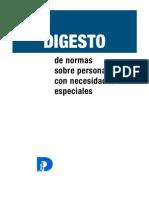 Digesto. Leyes Sobre Discapacidad