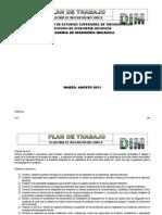 Plan de Trabajo Marzo-Agosto 2011
