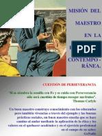 Misión del Maestro en la Educación ( 2009)