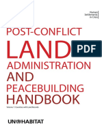 A Post-Conflict Land Administration and Peacebuilding Handbook