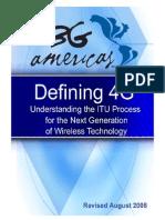 Defining 4G Telecommunication
