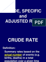 4) Crude,Specific and Adjusted Rate