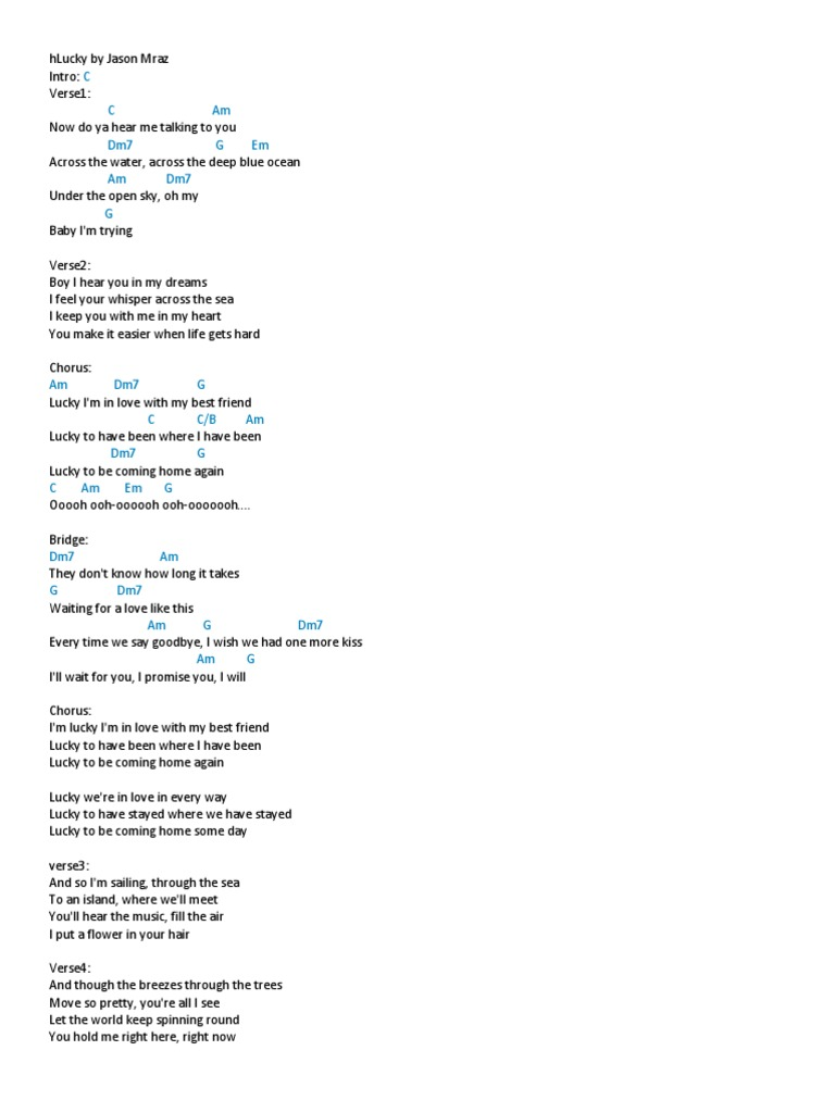Chords Song Structure Songs