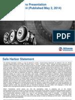 ALSN Investor Relations Presentation - First Quarter 2014