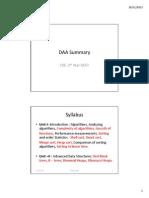 Daa Summary