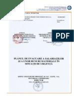 Plan de Evacuare a Salariatilor Si a Unor Bunuri Materiale in Situatii de Urgenta - Sucursala Timisoara