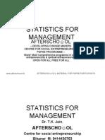 STATISTICS FOR MANAGEMENT 15 OCTOBER