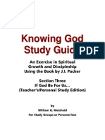 Knowing God Study Guide - Section Three Teacher-Personal Edition
