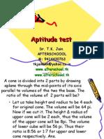 15 June aptitude test