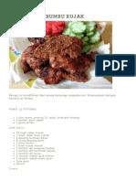 Ayam Bakar Bumbu Rujak - Rasamasa