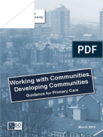 Community Development in the NHS - a case for change