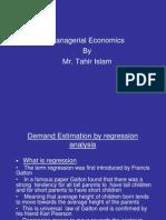 Rgression in Economics