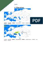 Indo-European Migrations; Maps