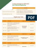 ACE EEE - GATE 2015 Online Test Series Schedule